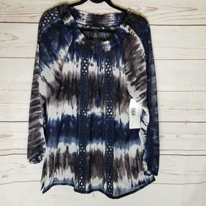 Embrodier Tie Blouse